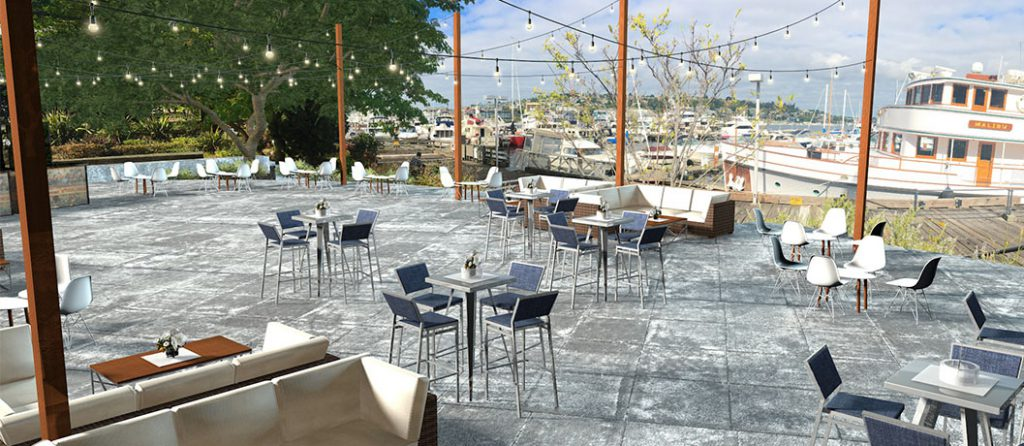 Dockside Cocktail Patio Party Layout
