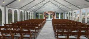 Dockside Ceremony Tent on Outdoor Patio