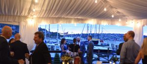 Evening Tented Reception Views At Dukes Dockside