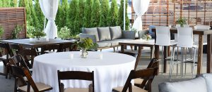 Outdoor Wedding Party Setting At Dukes Dockside