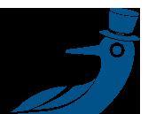 Dockside Logo Bird with Hat
