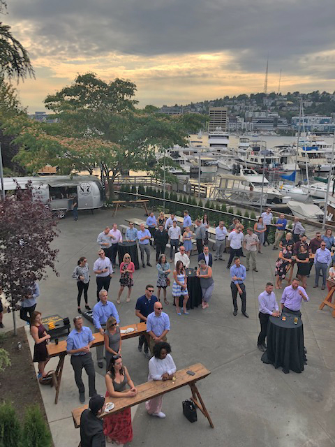 Dockside Outdoor Patio Venue with Lake Union View