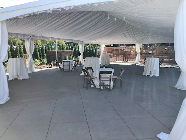 Dockside Tented Patio Area for Events