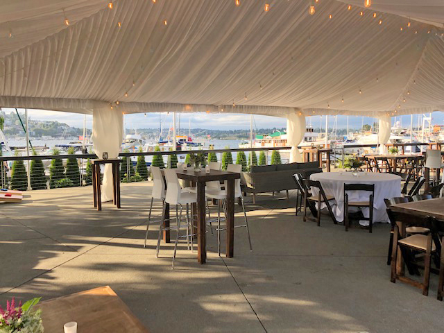 Dockside Tented Social Area with Lake Union View