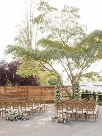 Dockside Outdoor Wedding Setting