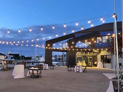 Dockside Outdoor Patio with Lighting