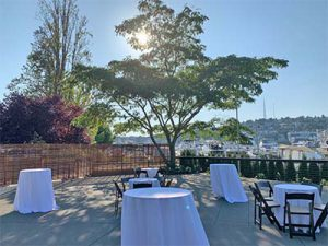 Dockside Outdoor Parties with Lake View