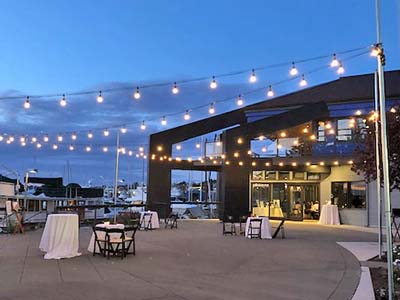 Dockside Parties Outdoor Patio with Lighting